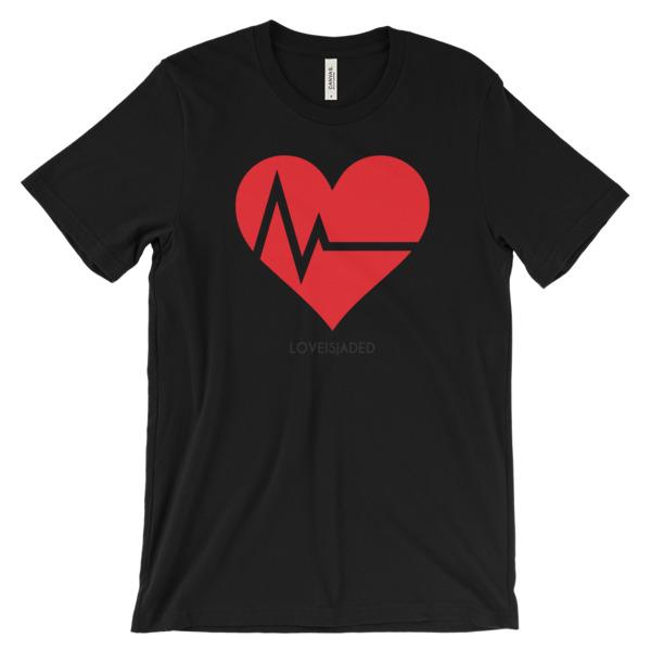 Love Is Jaded- Unisex short sleeve t-shirt